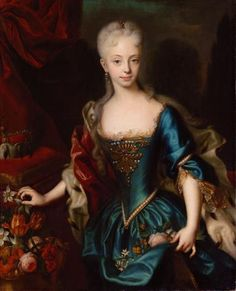 Maria Theresa of Austria (1717-1780), archduchess of Austria, later Holy Roman Empress, queen consort of Germany and queen of Hungary, Croatia and Bohemia, mother of Marie Antoinette | Andreas Møller (1729)