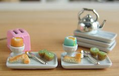 Dollhouse Miniature Soft Boiled Eggs and Toast Soldiers - 1/12 scale | Flickr - Photo Sharing!