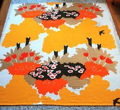 Tampella, dec SUVI, design Marjatta Metsovaara Antique Prints, Surface Design, Contemporary Design, Print Design, Retro Vintage, Cotton Fabric, Textiles, Japanese, Antiques
