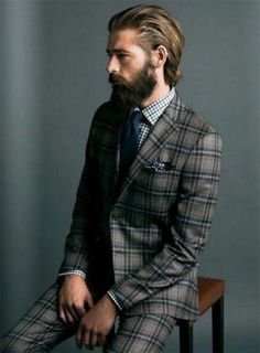 Experiment with patterned suits.