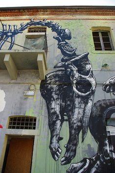 1725 in Graffiti Street Art of Animals Best Street Art, 3d Street Art, Amazing Street Art, Street Art Graffiti, Street Artists, Amazing Art, Epic Art, Graffiti Artwork, Graffiti Wall
