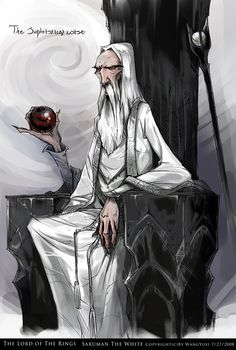 Saruman cartoon by WangYuxi