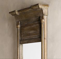 WOW!  This mirror is amazing!  I love it's dressed down look and simple rustic look, without being too primitive.