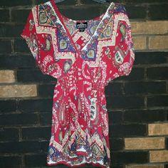 Selling this Angie Festival/Boho Tunic Paisley Low-cut Dress in my Poshmark closet! My username is: lexthebarbarian. #shopmycloset #poshmark #fashion #shopping #style #forsale #Angie #Dresses & Skirts