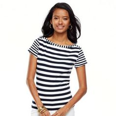 Chaps Striped Tee #Nautical #Kohls