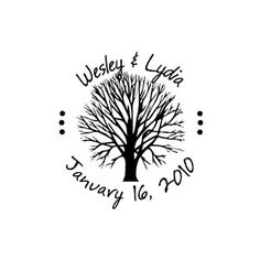 Hey, I found this really awesome Etsy listing at https://www.etsy.com/listing/112966081/wedding-tree-custom-rubber-stamp-save