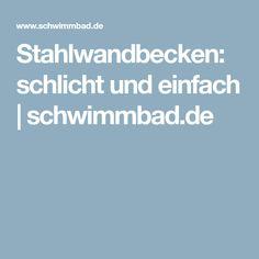 Stahlwandbecken: schlicht und einfach | schwimmbad.de