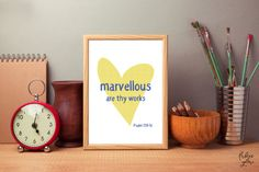Marvellous are thy works Psalm 139:14 Bible verse Bible