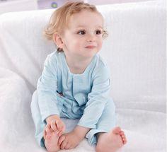 Newborn Baby Toddler Girl Boy Long Sleeve Bodysuits Clothing Romper 0-3M Blue #ibaby #Everyday