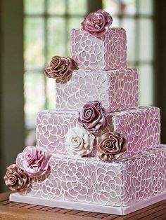 Daily #wedding cake inspiration (new!) http://www.modwedding.com/2014/07/31/daily-wedding-cake-inspiration-new-5/ #wedding #weddings #wedding_cake Featured Wedding Cake: The Wow Factor Cakes;