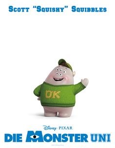 "Scott ""Squishy"" Squibbles #DieMonsterUni ©Disney•Pixar"