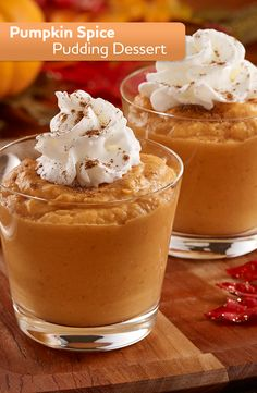 Spice up your pumpkin recipes with this Pumpkin Spice Pudding Dessert.