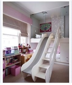 Perhaps kids would be more likely to get out of bed in the morning if they had a slide connected to it.