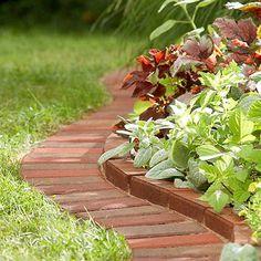 Pretty plant bed borders, Lowes.com/creative ideas: Edging_Edging_Brick_Border