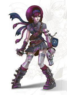 Cyber Punk Girl by ~Nemons on deviantART