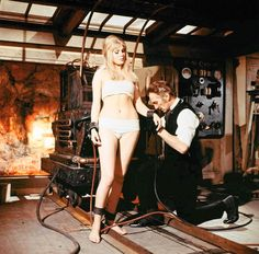 """""""Frankenstein Created Woman"""" (1967). Although there are many publicity photos of former Playboy Playmate Susan Denberg in this sexy costume, she does not actually wear it in the film itself."""