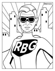 Ruth Bader Ginsburg RBG coloring pages printable and coloring book to print for free. Find more coloring pages online for kids and adults of Ruth Bader Ginsburg RBG coloring pages to print.