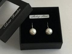 Pearl earrings by SilverRealmJewellery on Etsy