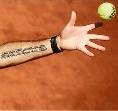 #Stanislas_Wawrinka #Stan_The_MAN #Roland_Garros_2015_Champ #Tattoo Ever Tired Ever Failed No Matter Try Again Fail Again Fail Better مهما غمرك الارهاق مهما فشلت فلا يهم حاول مرة أخرى تفشل مرة أخرى تفشل بشكل أفضل #Deserved Stan Wawrinka, Tennis, Club, Armadillo, Tattoo Art