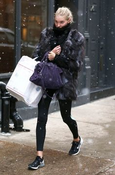 Elsa Hosk Shopping In NYC