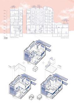 Villa savoye structure 3d 1 131 1 600 pixels for Architektur axonometrie
