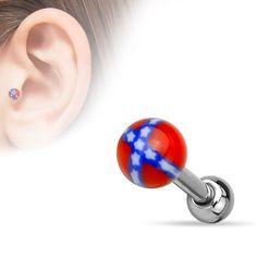 Acrylic Rebel Ball Ear Cartilage Tragus Helix Barbell Studs