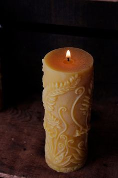 Items similar to Yellow Fern Pillar Beeswax Candle- Tea Party Decorations Candles- Mother's Day Candle Gift- Decorative Beeswax Pillar Candle on Etsy Beeswax Candles, Scented Candles, Pillar Candles, Mothers Day Candle, Tea Party Decorations, Natural Candles, Southwestern Decorating, Candels, Candle Making