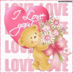 I Love You love cute animated romantic love quote romance teddy bear i love you valentine's day valentine Best Friend Miss You, Love You Sis, Still Love You, My Love, Hug Images, Love You Images, Pink Images, Hug Quotes, Friend Quotes