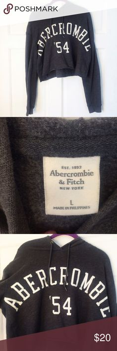 Abercrombie crop sweatshirt Reposh for me, just didn't fit as I had hoped. In really good condition. No flaws that I can see. Very comfy and soft! Perfect for a sexy/ oversized sweater look. 17.5inches long. Offers welcome! Abercrombie & Fitch Tops Sweatshirts & Hoodies