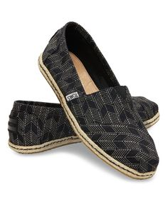 Look what I found on #zulily! Black & Natural Geometric Shashiko Classics by TOMS #zulilyfinds