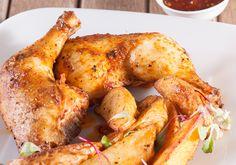 VLEIS - HOENDER Chicken Fillet Recipes, Chicken And Chips, Tandoori Chicken, Chicken Wings, Turkey, Menu, Yummy Food, Dishes, Baking