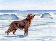 Resultado de imagen de aquarelles de chiens