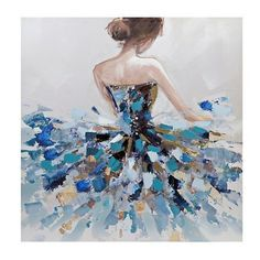 Product Details Balletic Beauty Art Print on Canvas - ART Watercolor Painting Acrylic Painting Canvas, Canvas Art Prints, Canvas Canvas, Blue Canvas, Painting Art, Ballerina Painting, Dance Paintings, Oil Paintings, Ballet Art