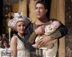 Julius Caesar and Cleopatra from HBO's Rome Rome Tv Series, Hbo Series, Ancient Rome, Ancient Greece, Rome Hbo, Caesar And Cleopatra, Ciaran Hinds, Julius Caesar, Roman History