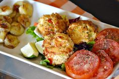 I got creative with the ingredients in these gluten-free crab cakes so that they both taste fantastic and hold up.