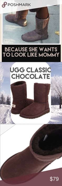 UGG CLASSIC GIRLS CHOCOLATE BOOT UGG CLASSIC IN CHOCOLATE...sizes 1 and 2 only UGG Shoes Boots