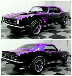 Chevy Camaro in Black \'n\' Purple..Re-Pin brought to you by #autoinsurance at #HouseofInaurance Eugene