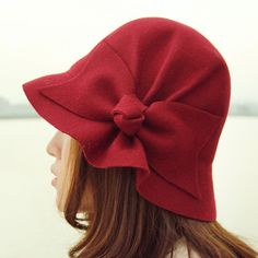 Felt bow hat #millinery #cloche #judithm