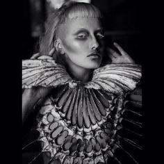 #5Dinspiration - Collar: Nika Danielska Design, Photo: Wojciech Kostoglu, Model: Biały Królik, Make-up: Ewa Grzelakowska-Kostoglu #nikadanie...