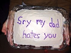 31 Funny Cakes For Life's Awkward Moments - aptitud Funny Troll, Stupid Funny, Hilarious, Funny Stuff, Cake Story, Cake Quotes, Say Im Sorry, Funny Cake, Morning Humor