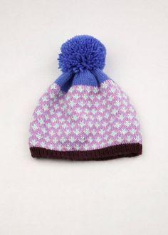 Lilac Diamond Beanie by WhiteLodgeKnitwear on Etsy