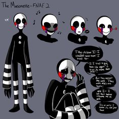 mangle x marionette | Marionette Sketchdump and a bit of Backstory by EverStarcatcher