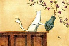 nicole wong illustration | Dica Cultural 31 – As ilustrações felinas de Nicole Wong