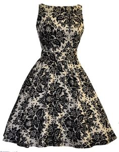 Damask, Pin-up dress- Lady Vintage