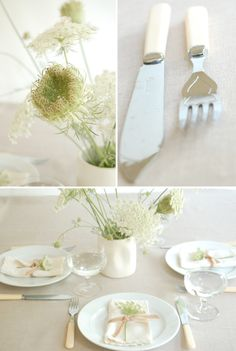 Babys Breath Place Setting