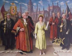 Princess Elizabeth Opening the New Broadgate, Coventry - Laura Knight