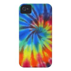 Blue Spiral Tie-Dye Case-Mate iPhone 4 iPhone 4 Cover
