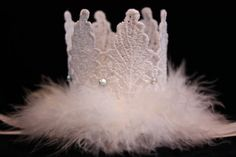 Baby Crown of lace and feathers
