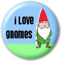 """I Love Gnomes"" 25mm Pin Button Badge"