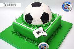 Soccer court - soccer ball cake - Torta cancha de fútbol - Torta balón de fútbol